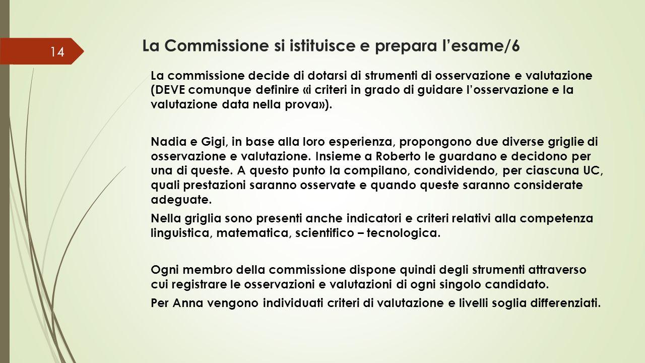 La Commissione si istituisce e prepara l'esame/6