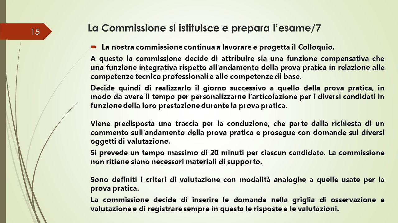 La Commissione si istituisce e prepara l'esame/7
