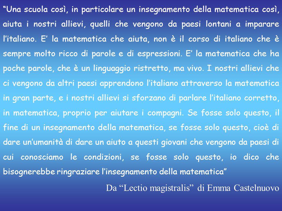 Da Lectio magistralis di Emma Castelnuovo