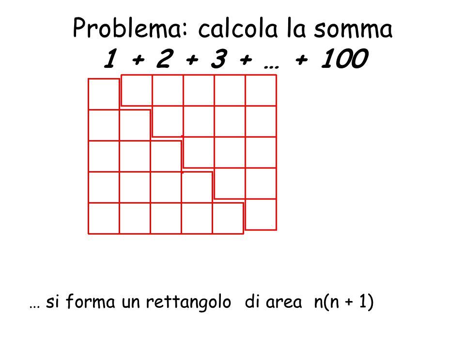 Problema: calcola la somma 1 + 2 + 3 + … + 100