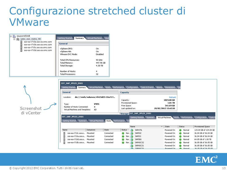 Configurazione stretched cluster di VMware