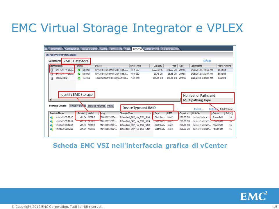 EMC Virtual Storage Integrator e VPLEX