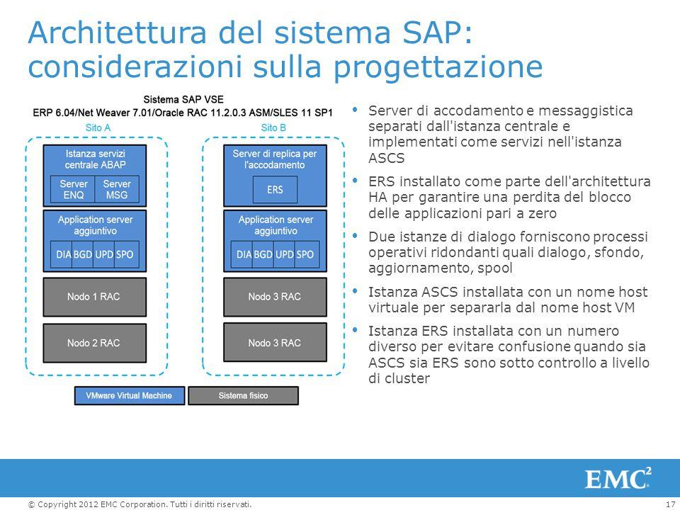 Architettura del sistema SAP: considerazioni sulla progettazione