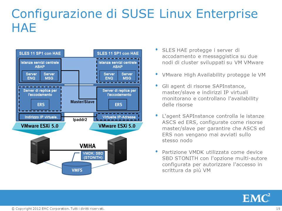 Configurazione di SUSE Linux Enterprise HAE