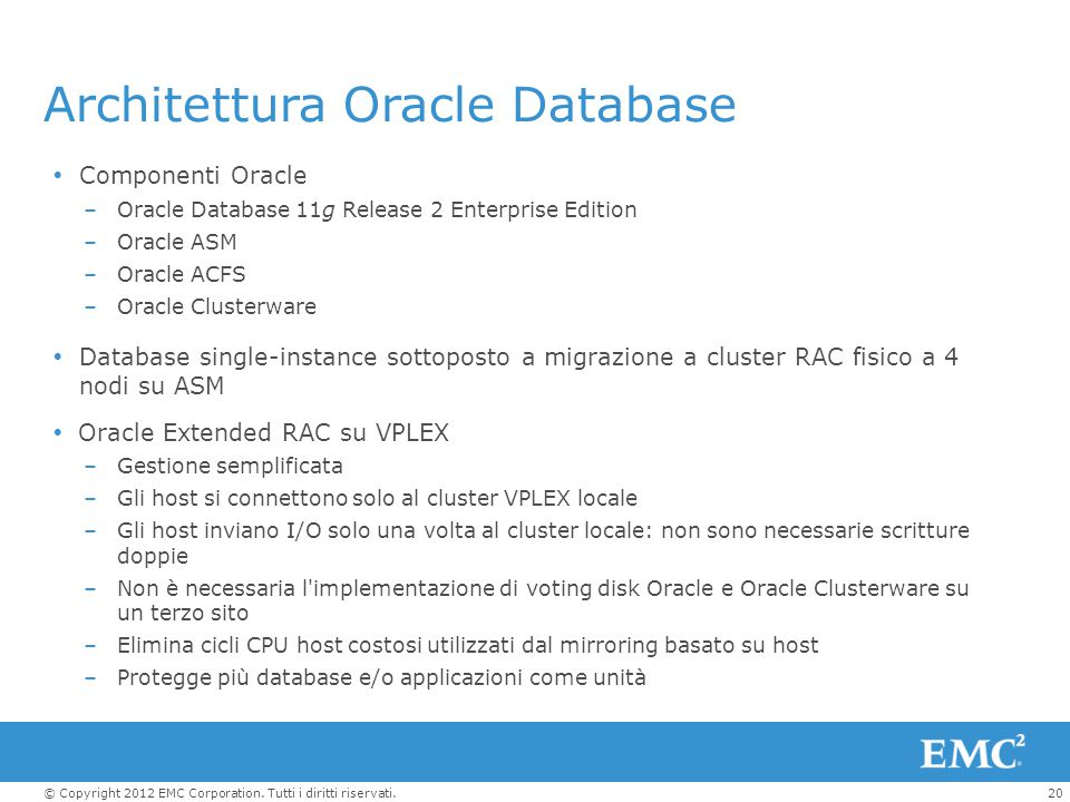 Architettura Oracle Database