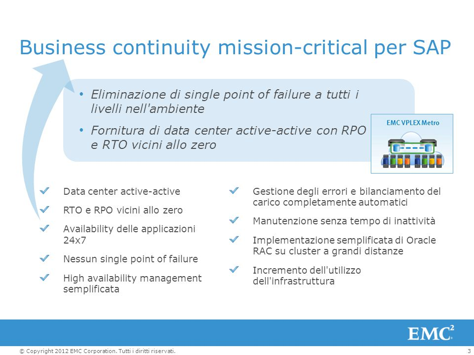 Business continuity mission-critical per SAP