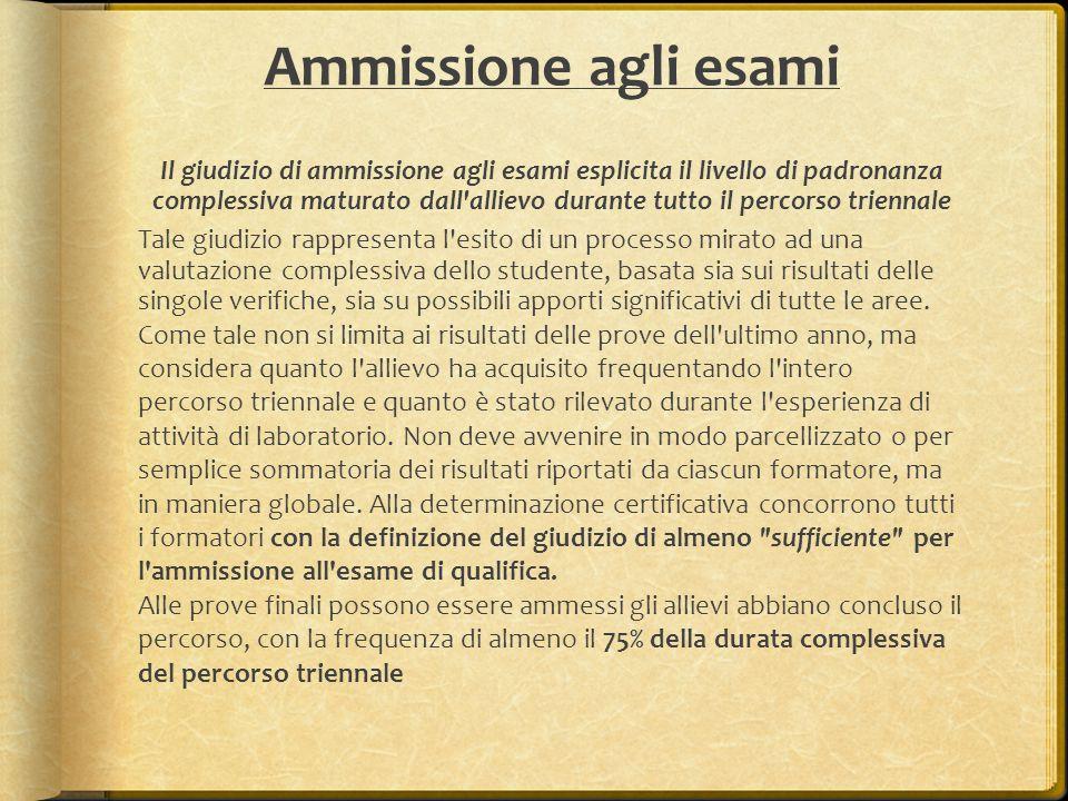 Ammissione agli esami