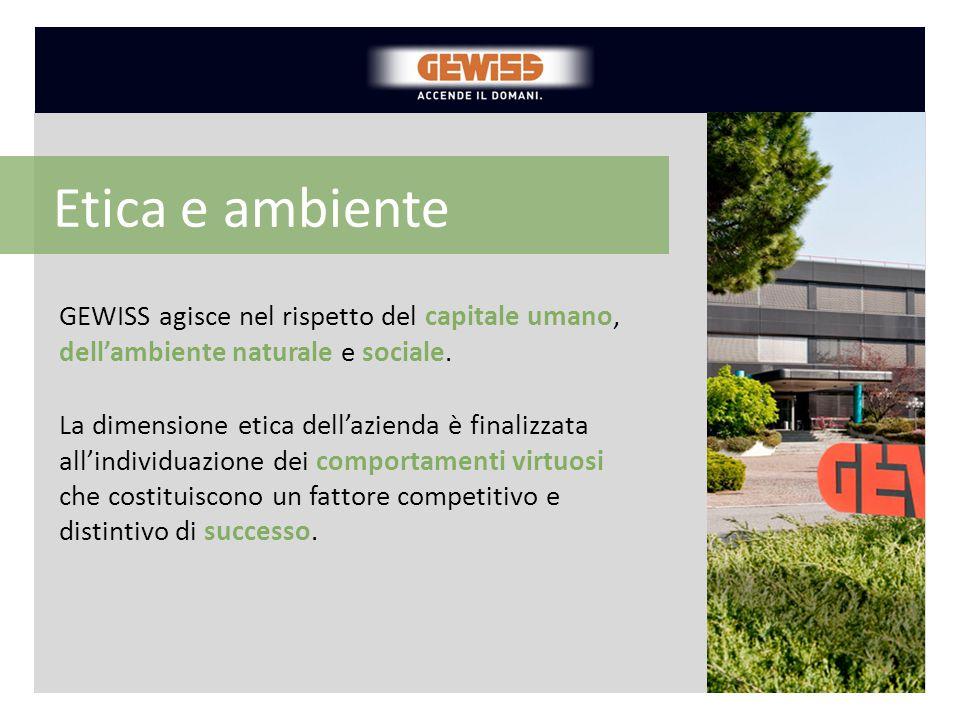 Etica e ambiente GEWISS agisce nel rispetto del capitale umano, dell'ambiente naturale e sociale.