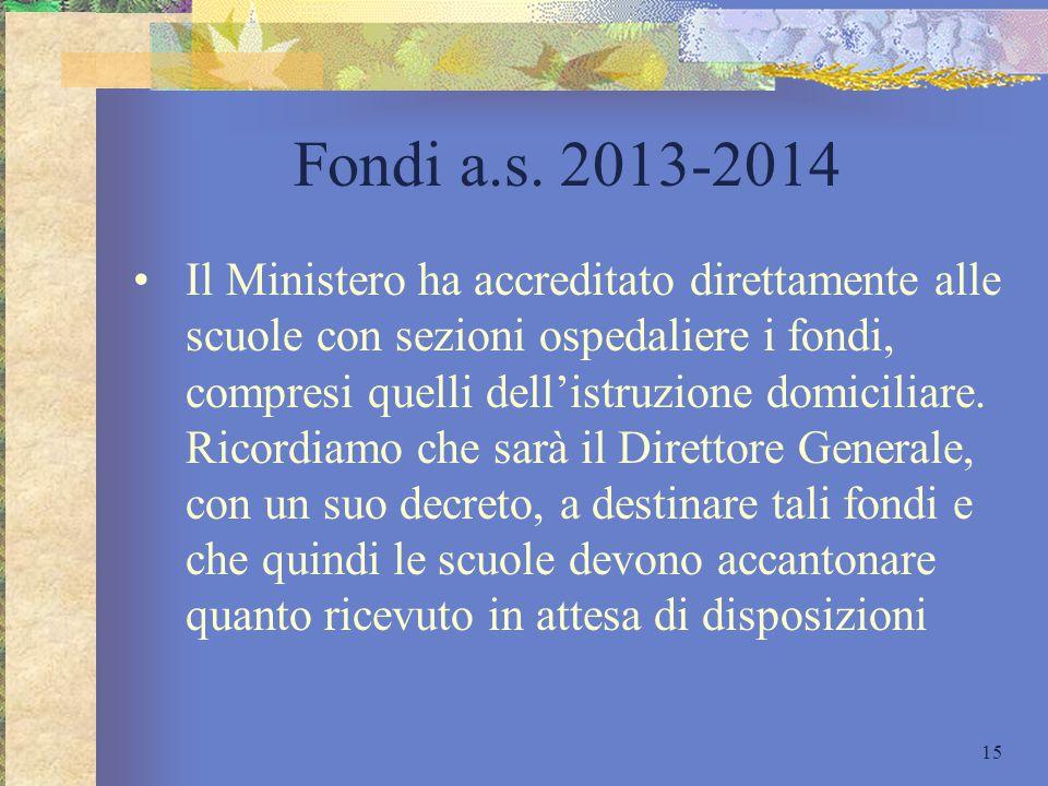 Fondi a.s. 2013-2014