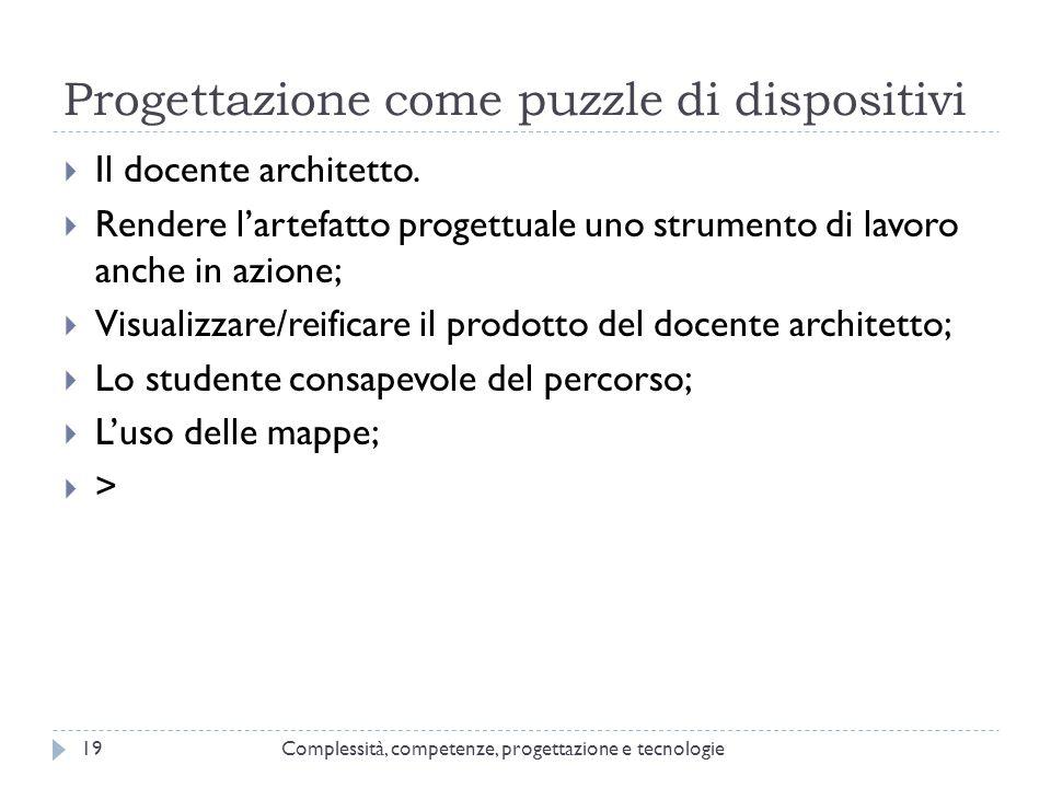 Progettazione come puzzle di dispositivi