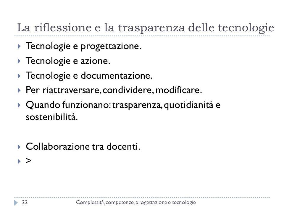 La riflessione e la trasparenza delle tecnologie