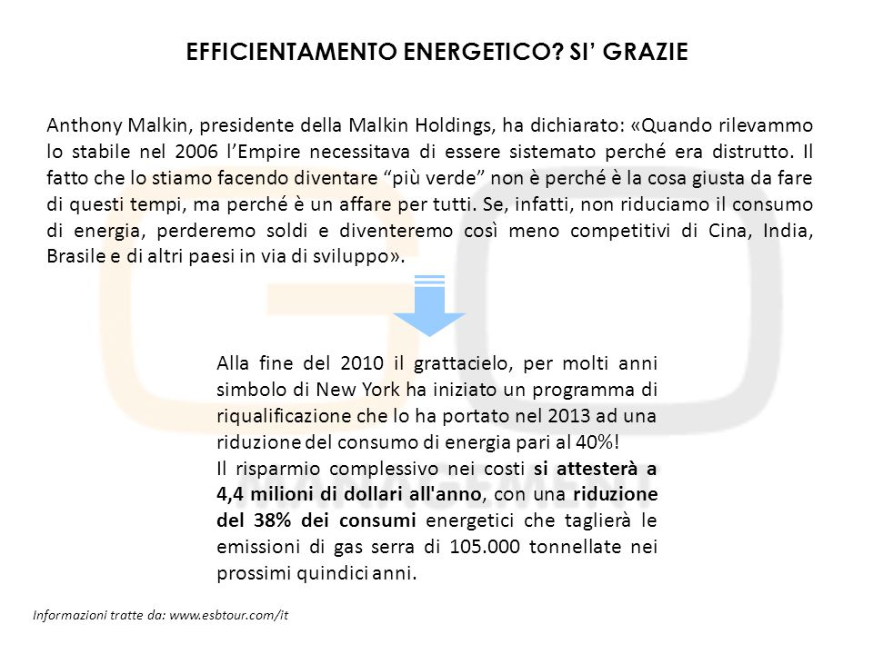 EFFICIENTAMENTO ENERGETICO SI' GRAZIE