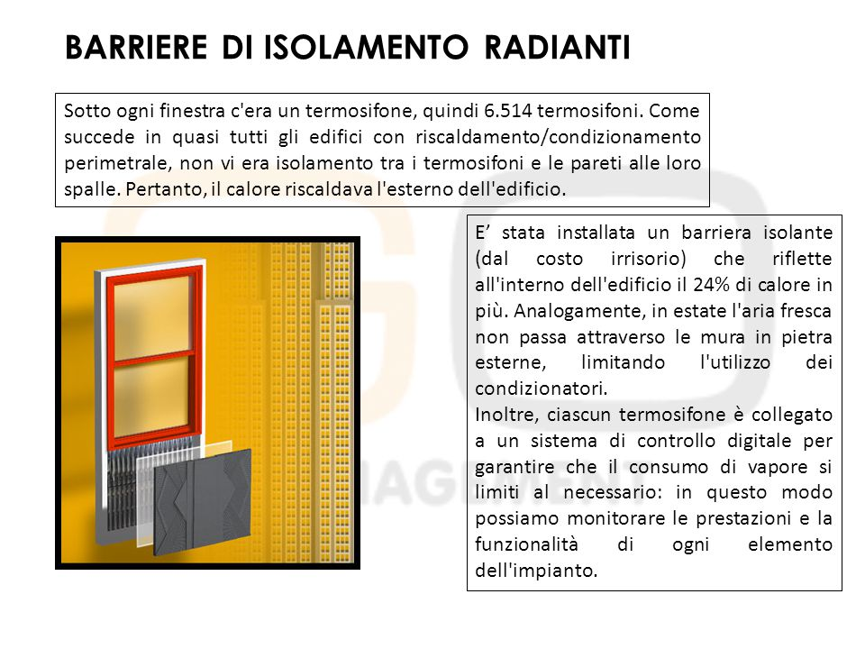 BARRIERE DI ISOLAMENTO RADIANTI
