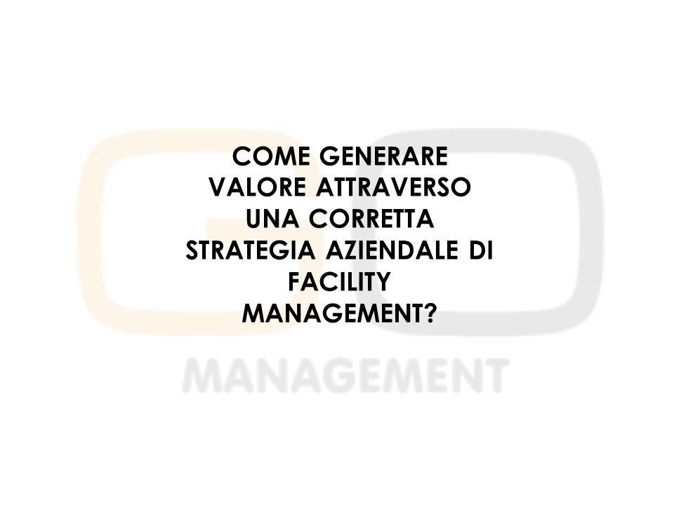 COME GENERARE VALORE ATTRAVERSO UNA CORRETTA STRATEGIA AZIENDALE DI FACILITY MANAGEMENT