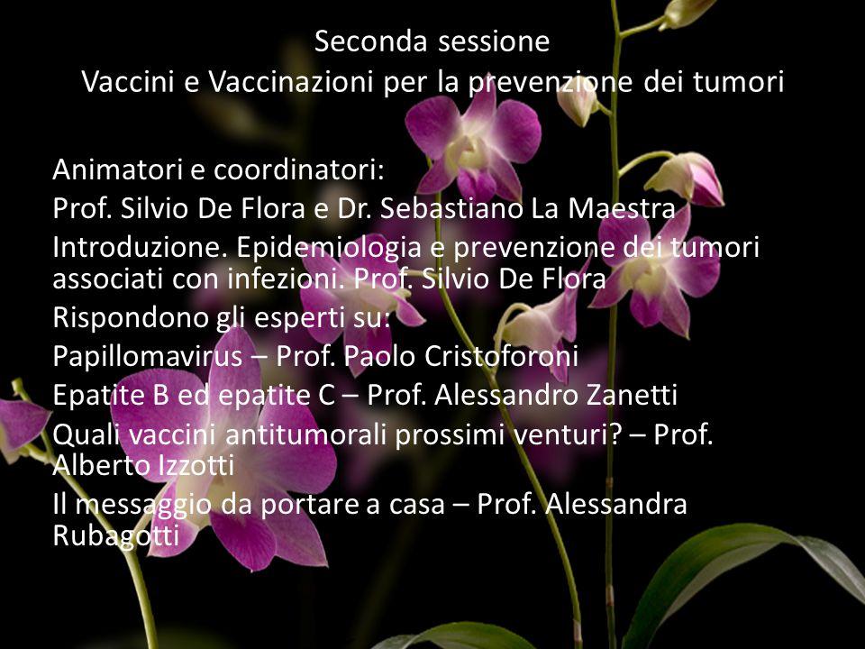 Seconda sessione Vaccini e Vaccinazioni per la prevenzione dei tumori