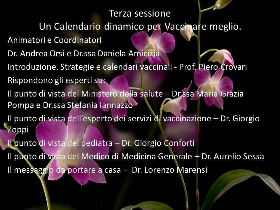 Terza sessione Un Calendario dinamico per Vaccinare meglio.