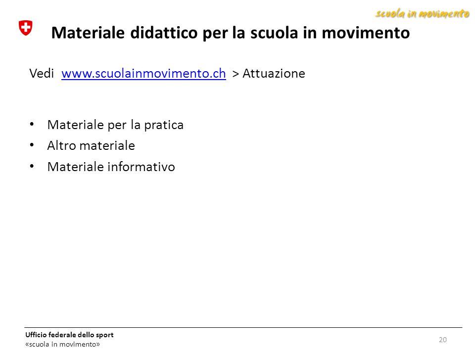 Materiale didattico per la scuola in movimento