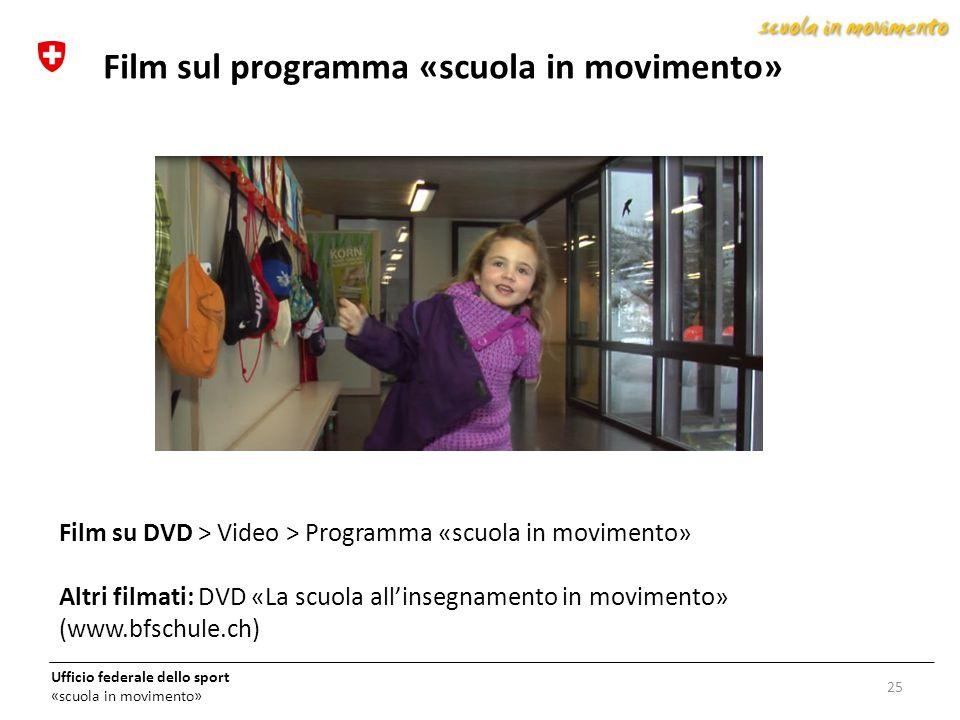 Film sul programma «scuola in movimento»