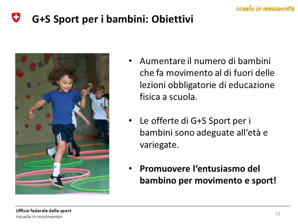 G+S Sport per i bambini: Obiettivi