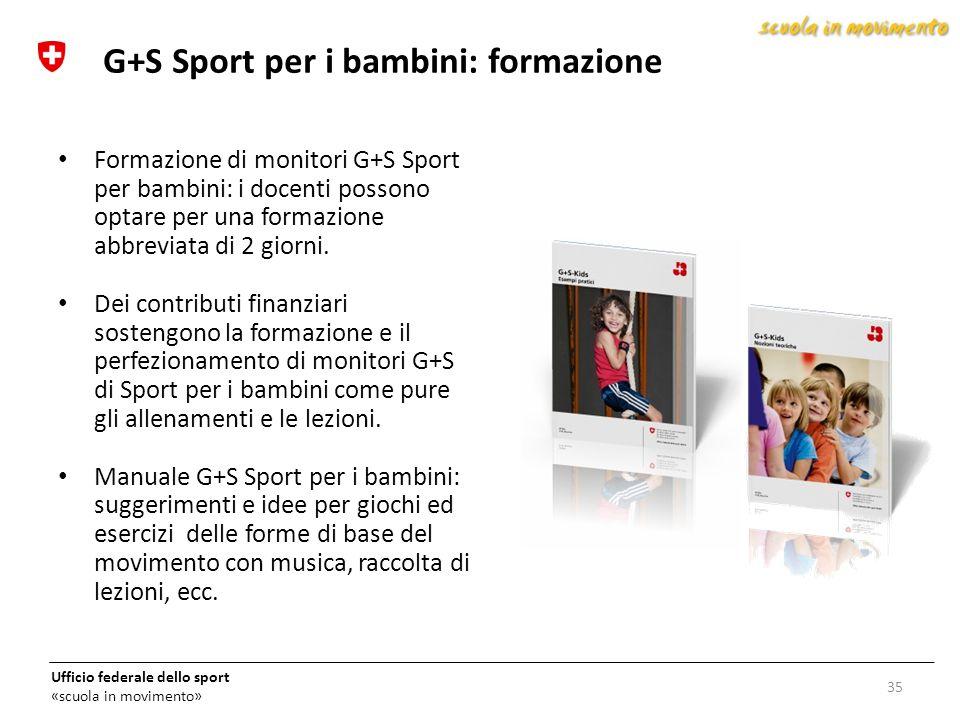 G+S Sport per i bambini: formazione