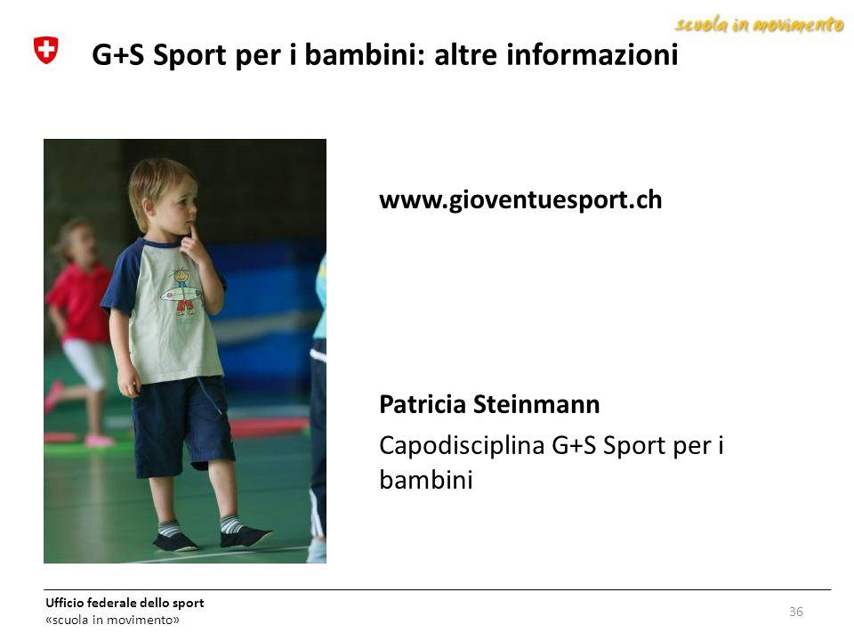 G+S Sport per i bambini: altre informazioni