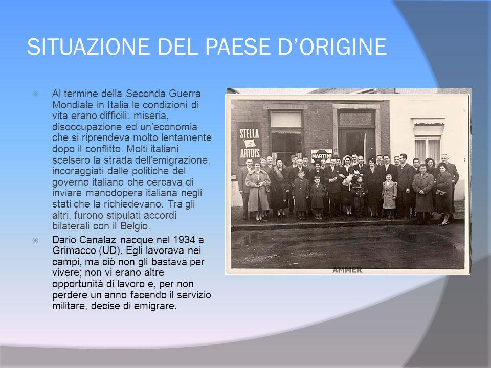 SITUAZIONE DEL PAESE D'ORIGINE