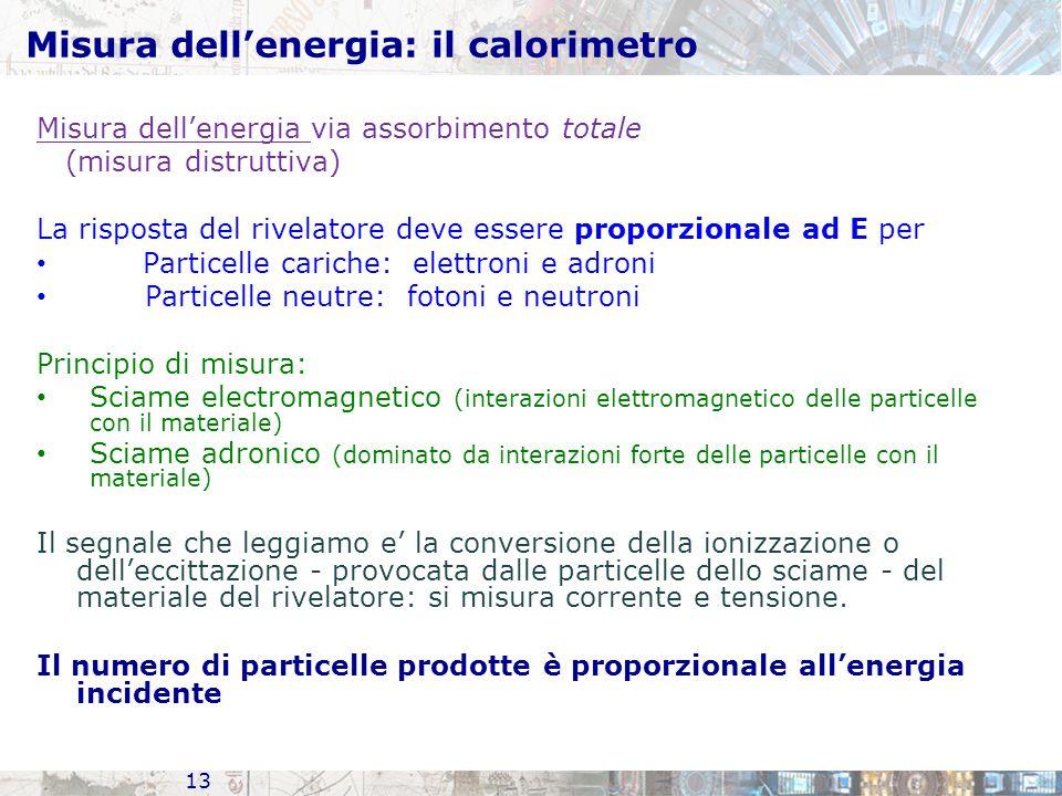 Misura dell'energia: il calorimetro