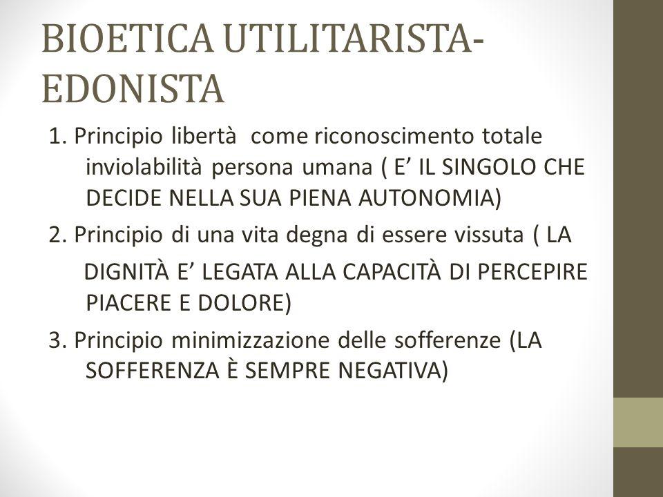 BIOETICA UTILITARISTA-EDONISTA