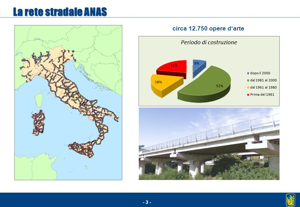 La rete stradale ANAS circa 12.750 opere d'arte 3
