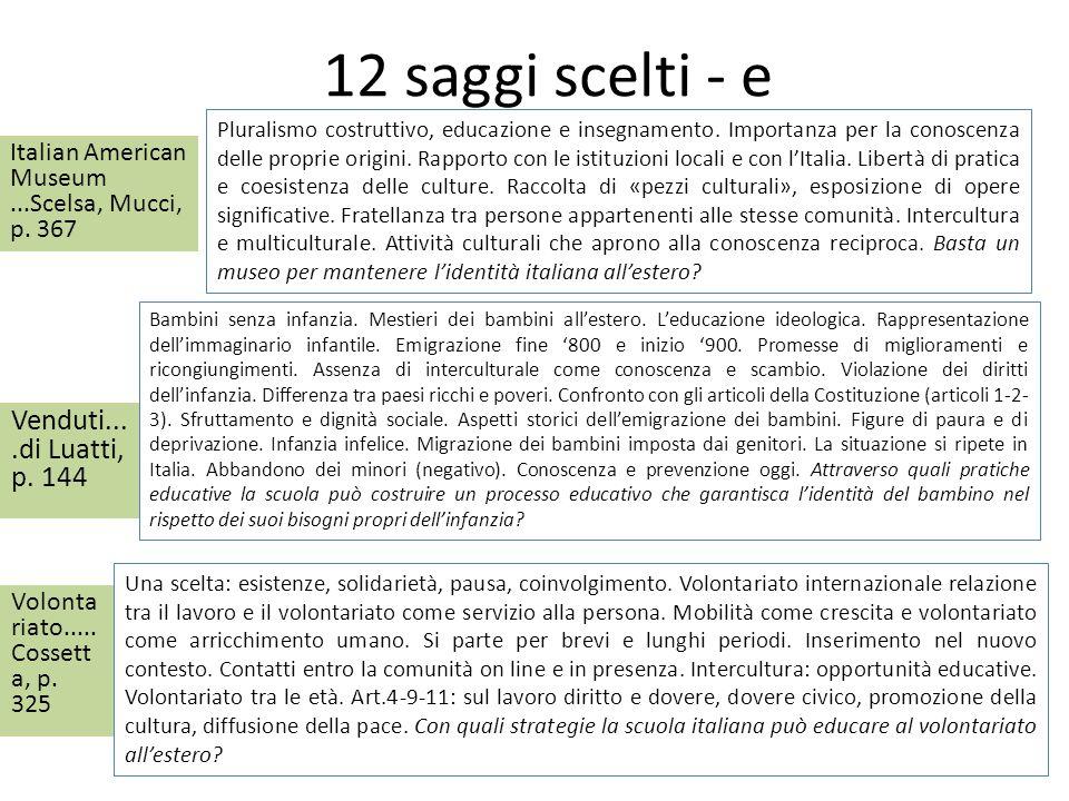 12 saggi scelti - e Venduti....di Luatti, p. 144