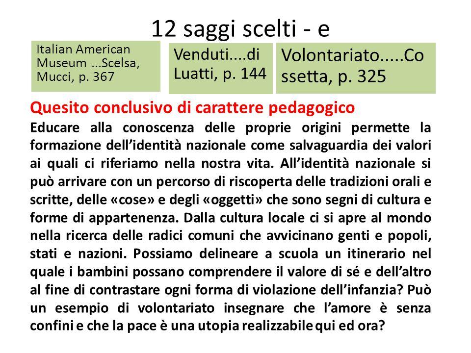 12 saggi scelti - e Volontariato.....Cossetta, p. 325