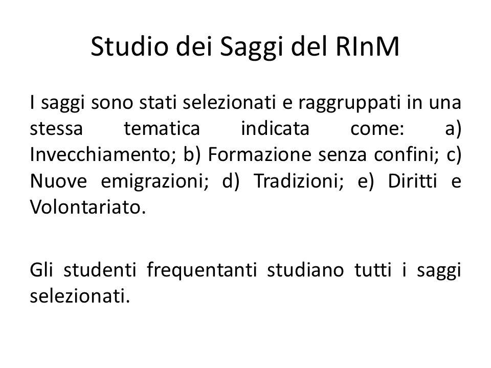 Studio dei Saggi del RInM