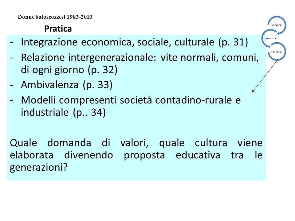Integrazione economica, sociale, culturale (p. 31)
