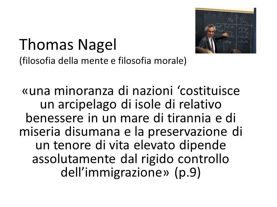 Thomas Nagel (filosofia della mente e filosofia morale)