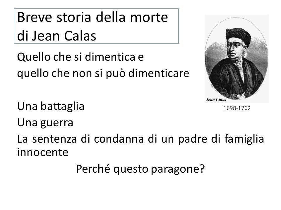 Breve storia della morte di Jean Calas