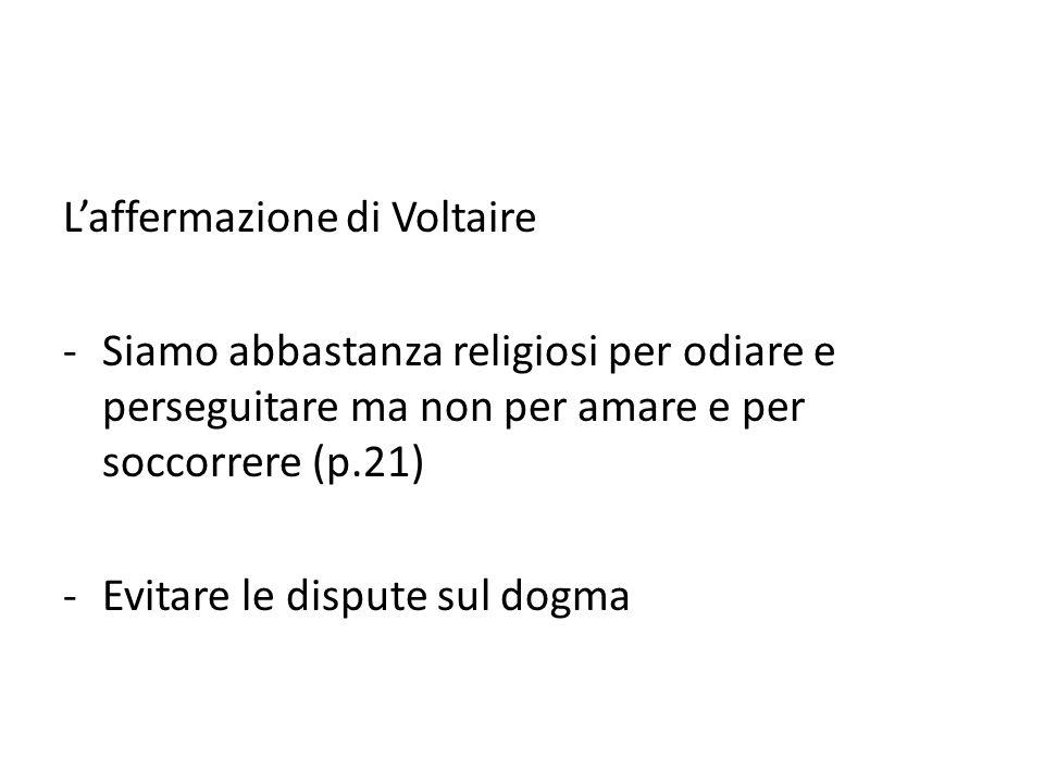 L'affermazione di Voltaire