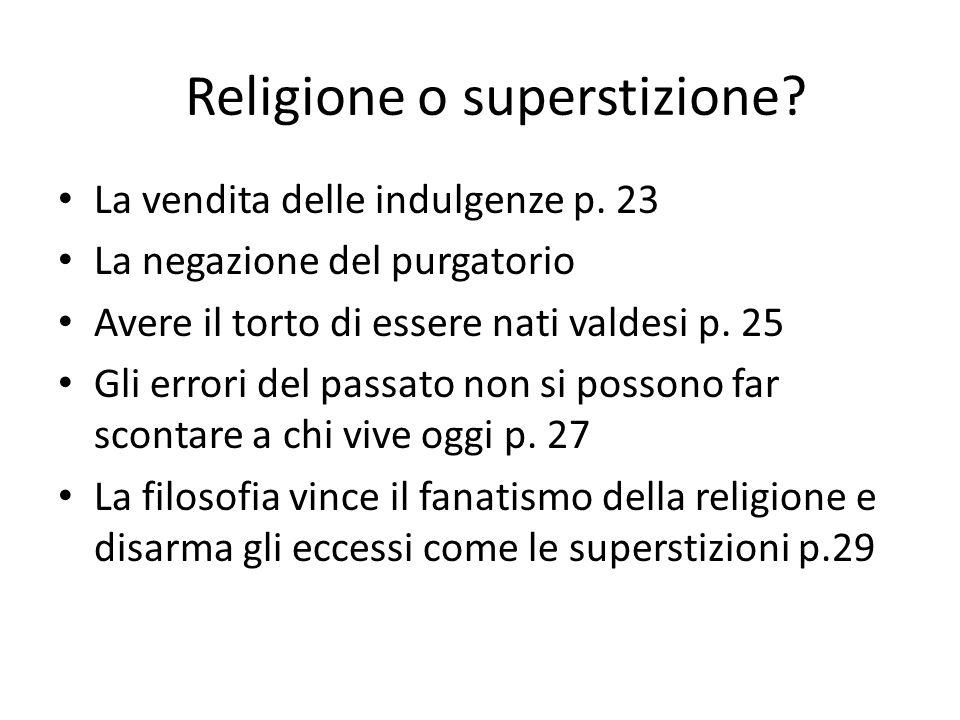 Religione o superstizione