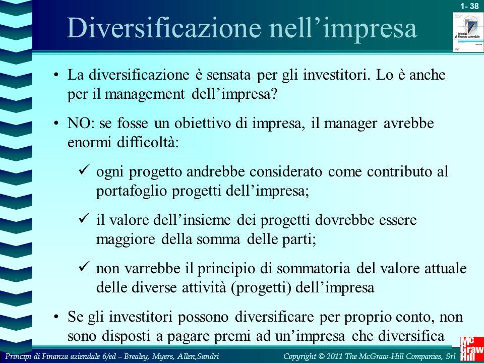 Diversificazione nell'impresa