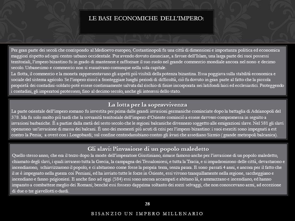LE BASI ECONOMICHE DELL'IMPERO: