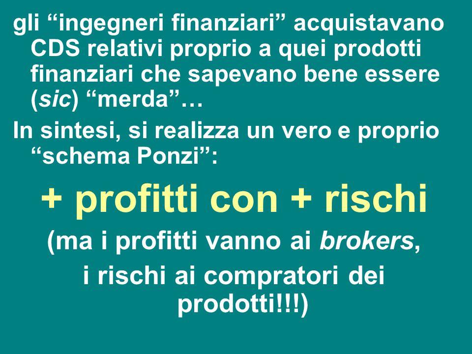 + profitti con + rischi (ma i profitti vanno ai brokers,