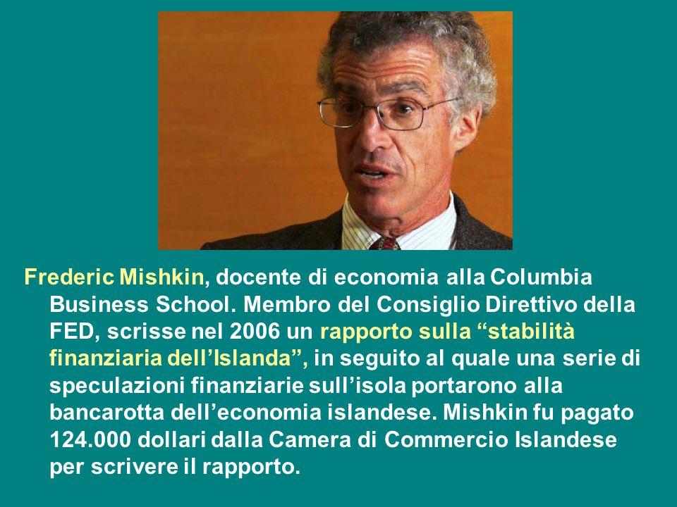 Frederic Mishkin, docente di economia alla Columbia Business School