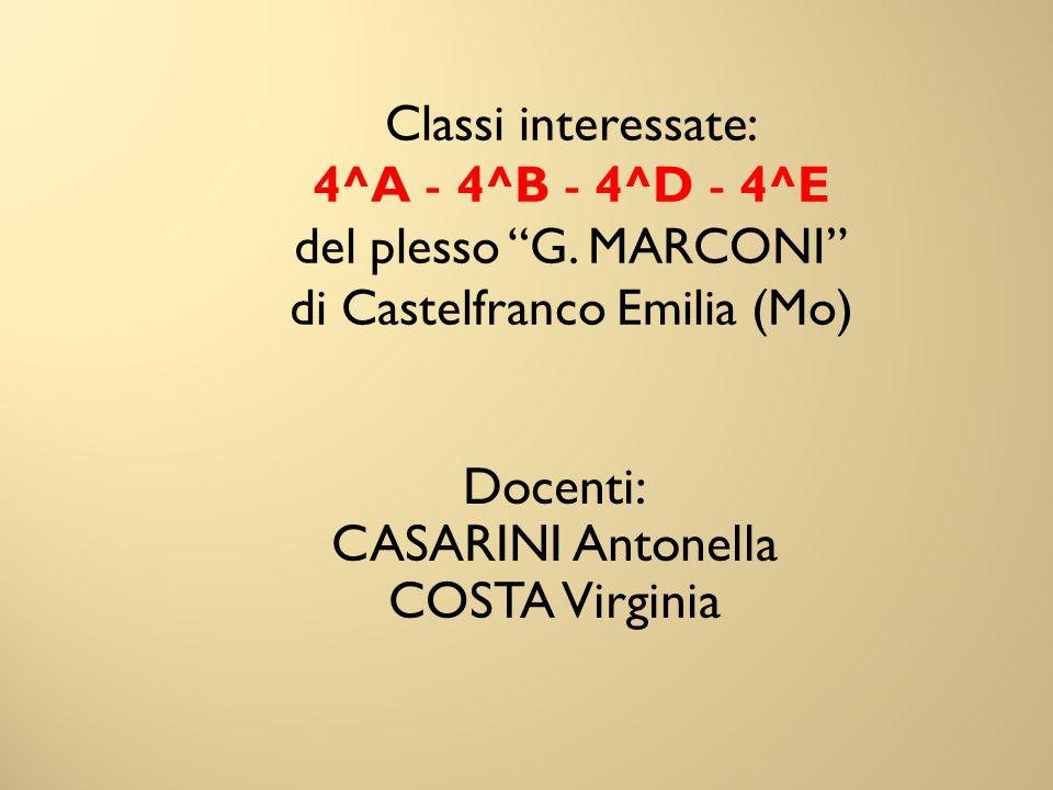 Docenti: CASARINI Antonella COSTA Virginia