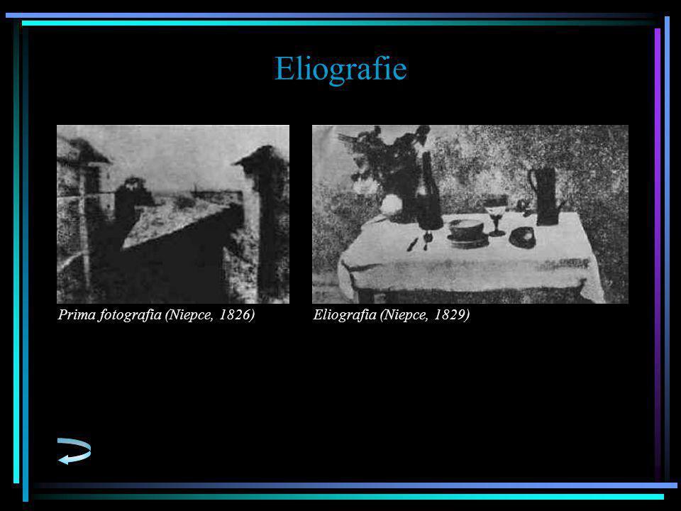Eliografie Prima fotografia (Niepce, 1826) Eliografia (Niepce, 1829)