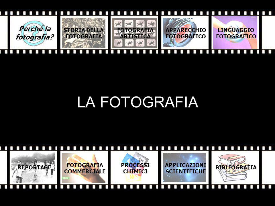 LA FOTOGRAFIA Perché la fotografia STORIA DELLA FOTOGRAFIA