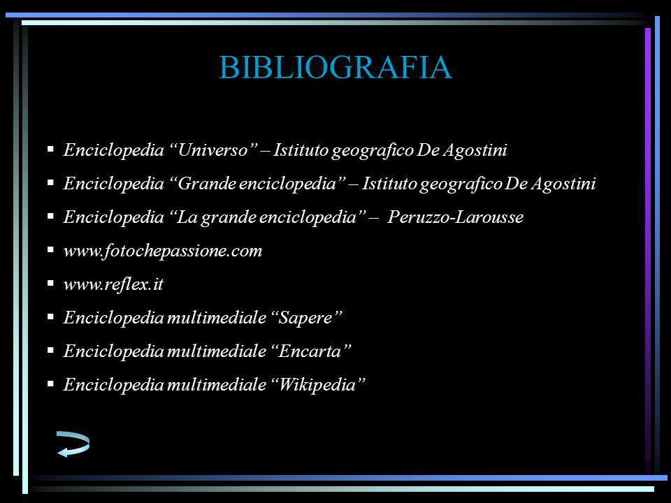 BIBLIOGRAFIA Enciclopedia Universo – Istituto geografico De Agostini