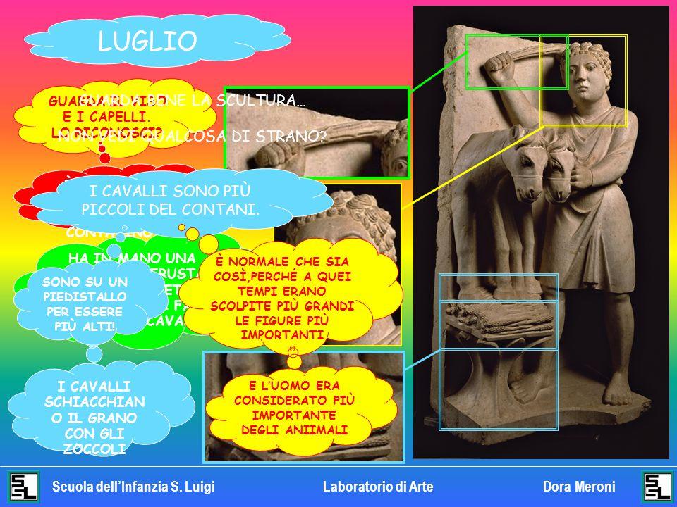LUGLIO GUARDA BENE LA SCULTURA… NON VEDI QUALCOSA DI STRANO
