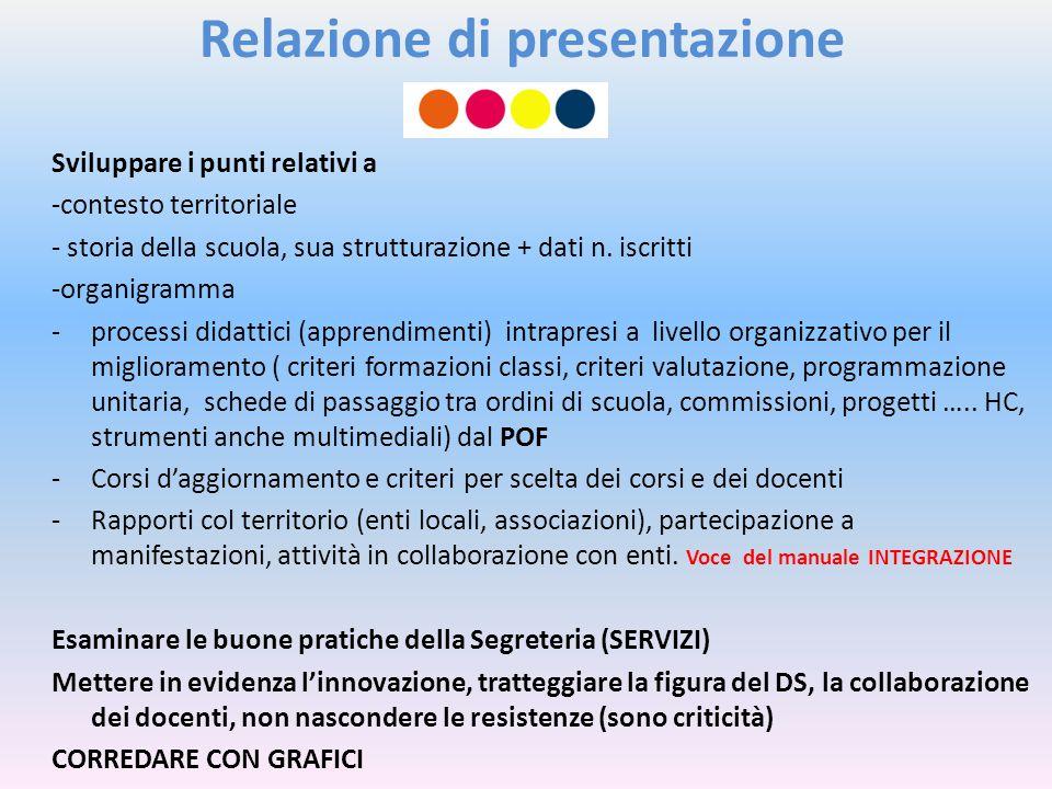 Relazione di presentazione
