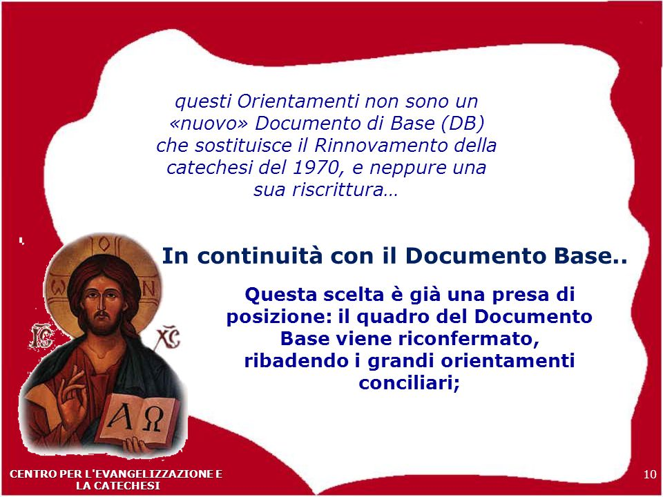 In continuità con il Documento Base..