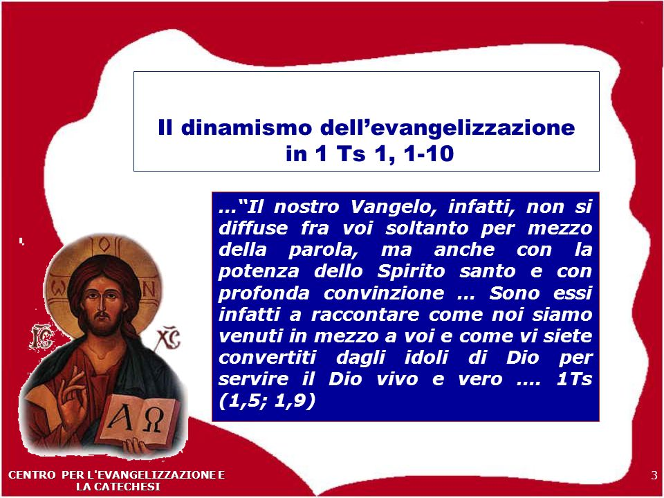 Il dinamismo dell'evangelizzazione in 1 Ts 1, 1-10