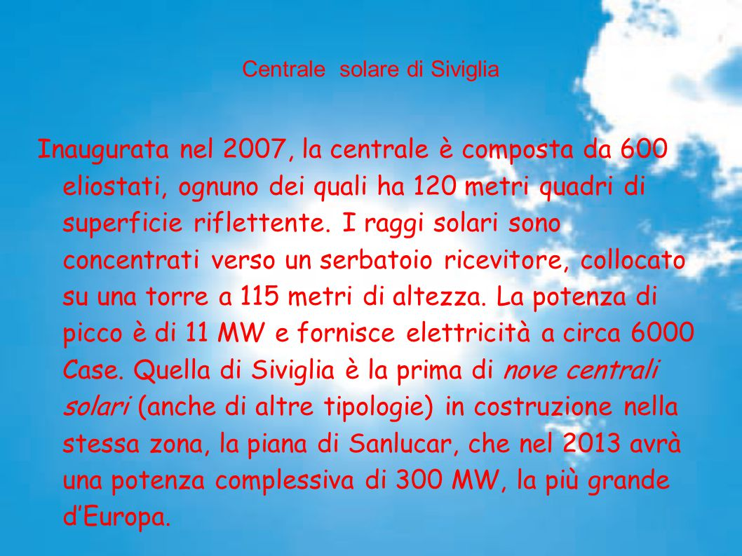 Centrale solare di Siviglia